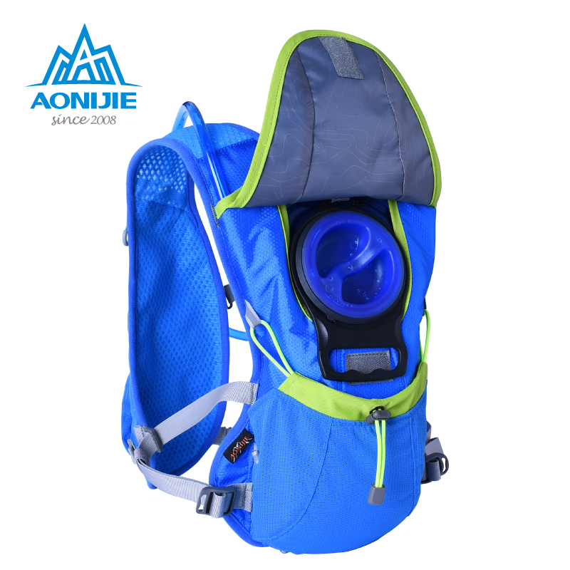 Aonijie running mochila racksack + 1.5l hidratación vejiga del bolso de agua dep
