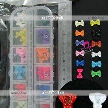 60 шт./компл. Дизайн ногтей акрил 3D бантом галстук-бабочку советы бабочка Наклейки Аксессуары Красота