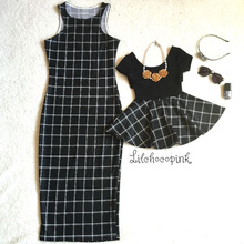 plaid mother daughter dress mommy and me clothes family matching outfits look mom baby daughter dresses clothes family clothing family matching outfits mom mommy and me clothes print black and white splice mother daughter dresses family clothing plus size