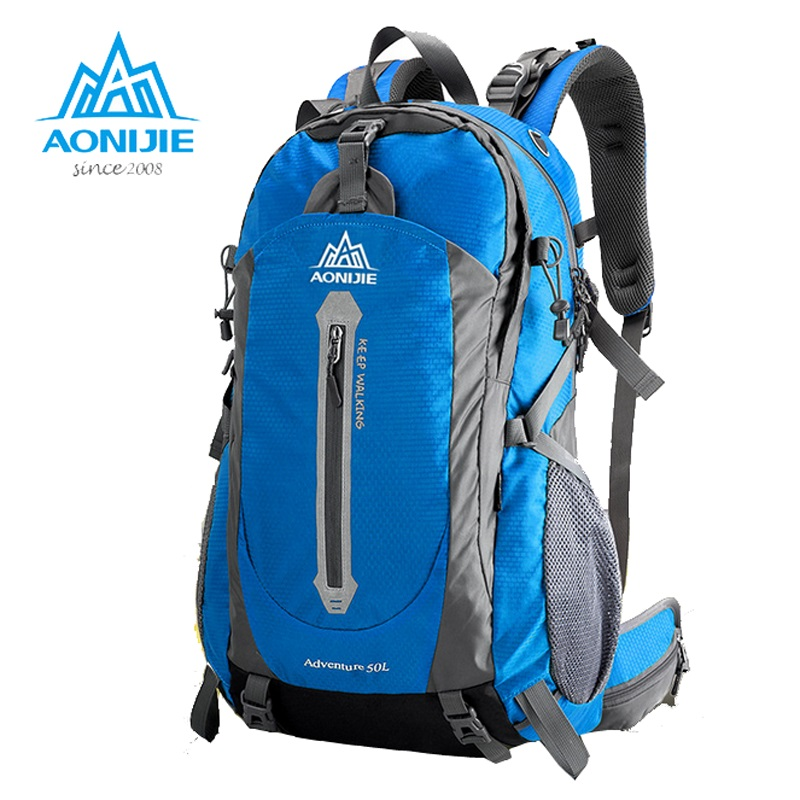 AONIJIE Climbing Backpack Mountaineering Travel Backpack Hiking Outdoor Camping 40L 50L Backpacks Waterproof Shoulder Bag outdoor 50l sports bag large capacity men travel bag mountaineering backpack hiking camping waterproof bag