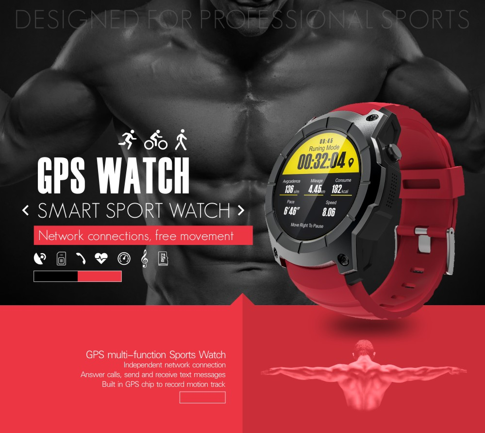 Smartch S958 Smart Watch Sport Waterproof Heart Rate Monitor GPS 2G SIM Card Calling All Compatible Smartwatch For Android IOS C smartch h1 smart watch ip68 waterproof 1 39inch 400 400 gps wifi 3g heart rate 4gb 512mb smartwatch for android ios camera 500