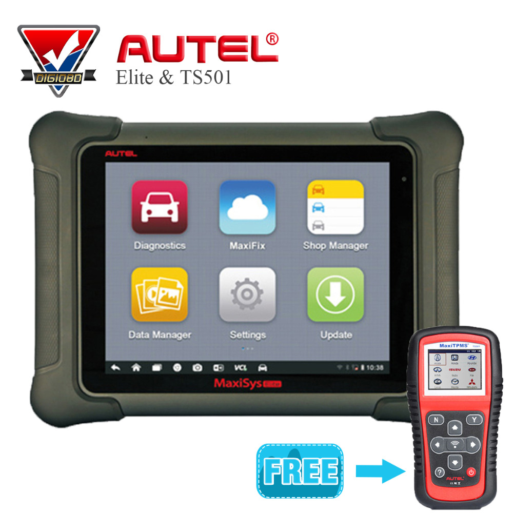 Original Autel MaxiSys Elite Universal Auto Scanner Car Diagnostic Tools J2534 ECU Programming MaxiTPMS TS501 font
