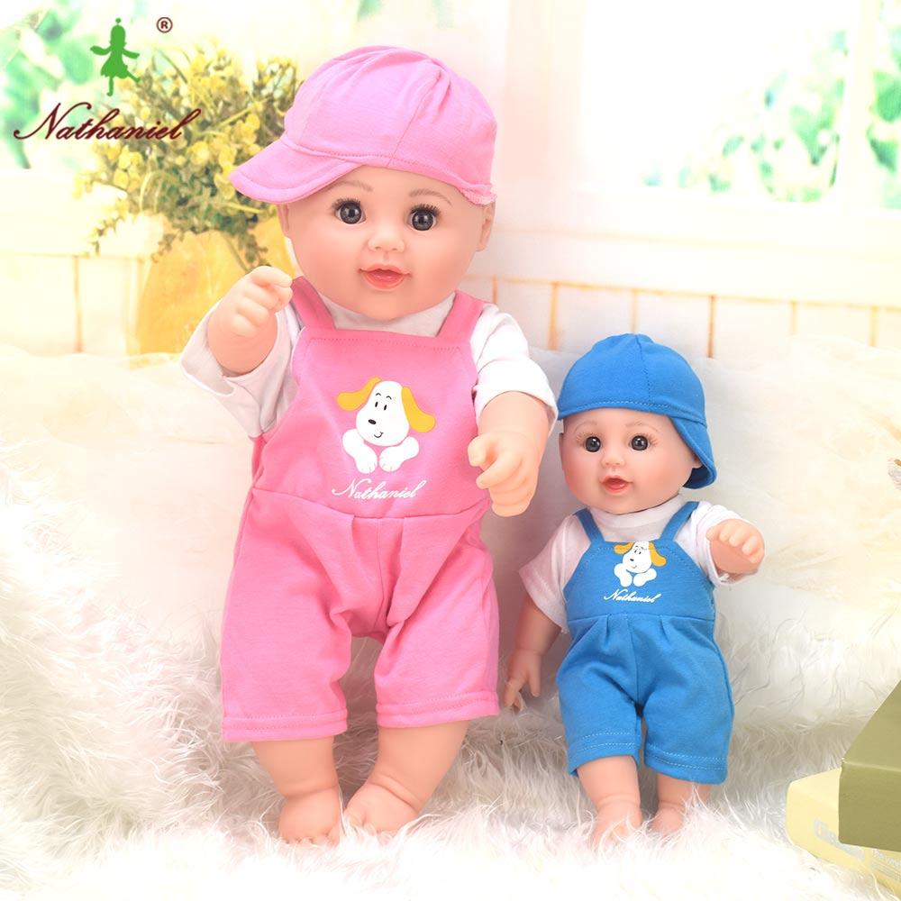 pink dog BIG! 18.9 inch Baby Dolls reborn boneca kawii Children lifelike Toys girls Dress doll Gifts Christmas Birthday NATHNIEL