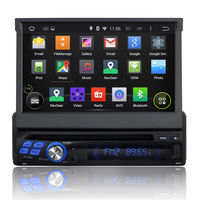 1 Din Android Car DVD Player with GPS Navigation 3G WIFI Radio Bluetooth TV AUX MP3 MP4 iPod USB SD Touch Screen Auto Stereo