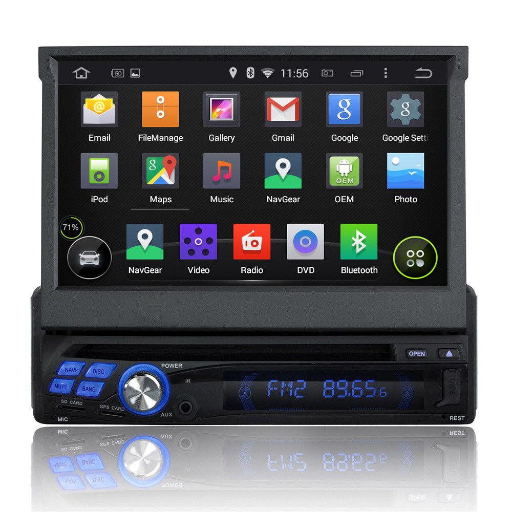 1 Din android dvd плеер автомобиля с gps навигации 3G Wi Fi Радио Bluetooth ТВ AUX MP3 MP4 iPod USB SD Сенсорный экран авто стерео