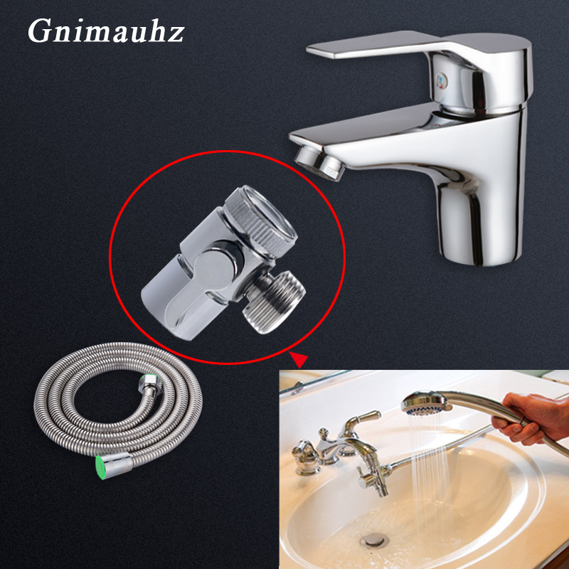 chrome plated copper basin faucet aerator f22 m24 g1 2 diverter adapter for toilet bidet sprayer shower washing machine nipple