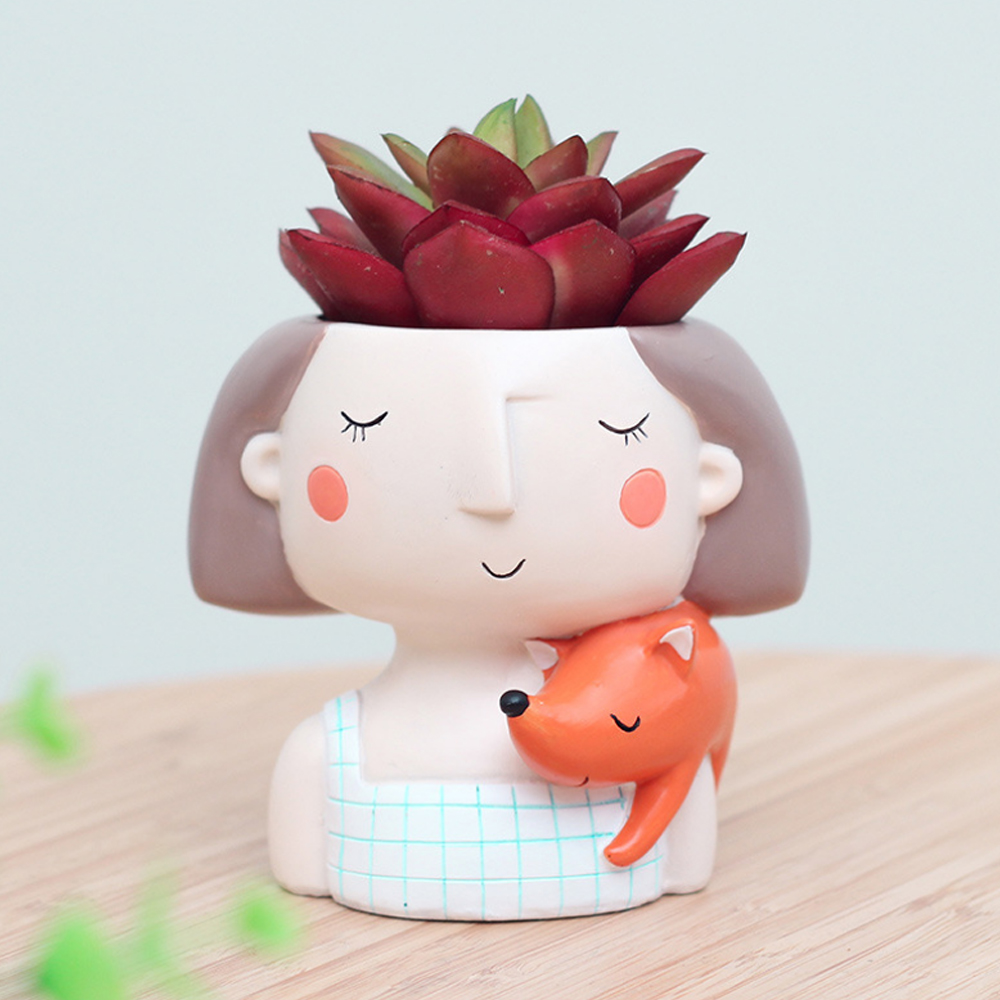 Lovely Cartoon Fleurs Home Bonsai planteur pot de fleur Craft Desktop conteneur