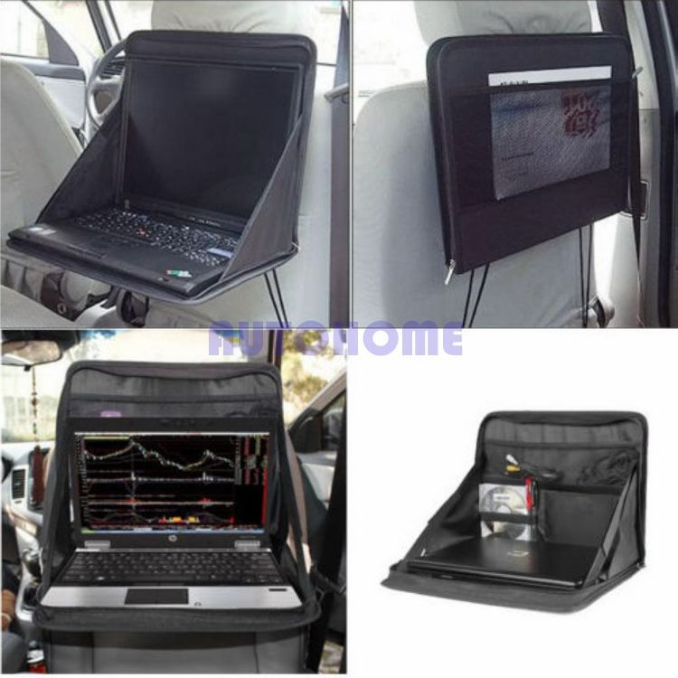 1 X Car Laptop Holder Tray Bag Mount Back Seat Auto Table