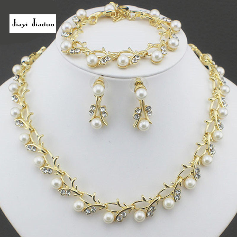 Classic Fashion Peal Jewelry Sets For Women Engagement: Classic Imitation Pearl Necklace Jewelry Set