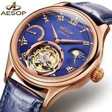 ESOPO relógios mecânicos marca top relógio de luxo homens tourbillon automatic assista relogio masculino erkek kol saati horloges mannen