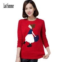 Новая мода, женский осенне-зимний свитер, пуловеры, повседневные, теплые, с длинным рукавом, женские вязаные свитера, пуловер, свитер для девушек