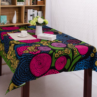 Double Ends Weft Fabric Cotton Tablecloth Waterproof Printed Table Cloth For Restaurant Home Outdoor Hotel Party