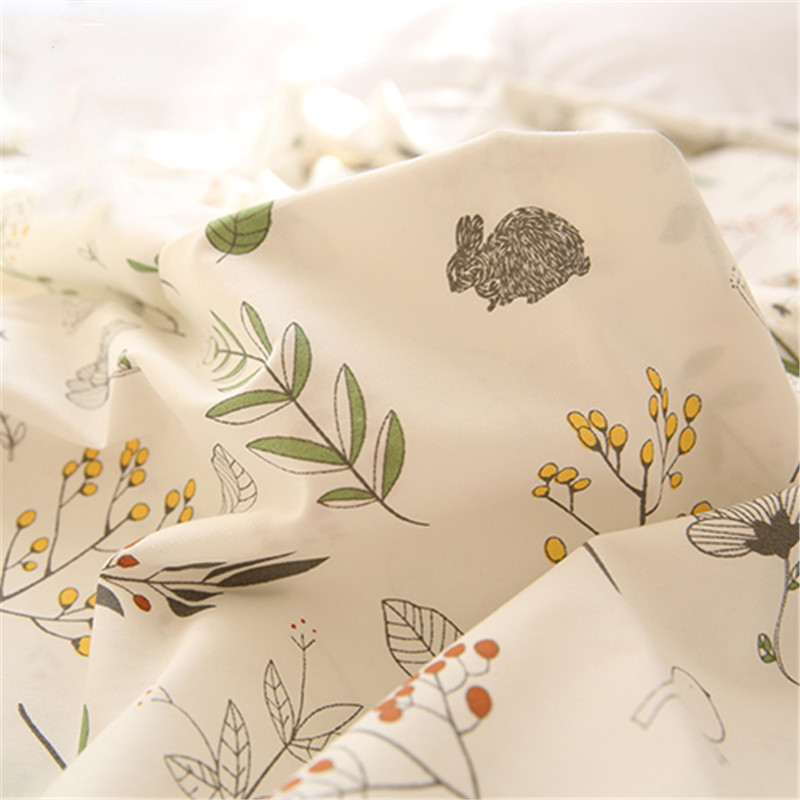 No fluorescence Nordic wind pure cotton cloth extra large wide bed sheet quilt curtain fabric