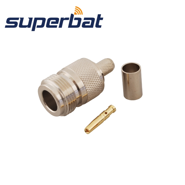 Superbat  10 Pcs  Free Shipping RF N Crimp Jack Female Connector For Cable LMR240