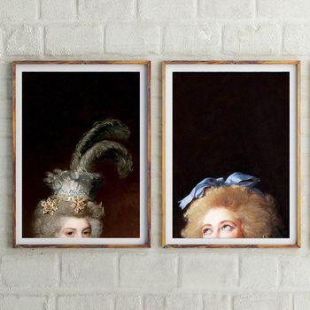 """antique woman portrait"" εκτύπωση πίνακα σε καμβά"