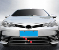 Outer Front Bottom Grill Grille Inserts Cover Trim 4pcs For Toyota Corolla Sedan 2017 2018 (Not Fit For North America Model)