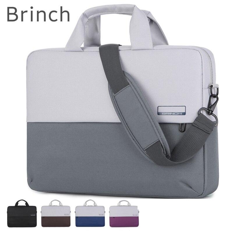 2019 nueva marca Brinch bolsa para portátil 13 14 15 15,6 pulgadas mensajero, bolso caso para MacBook air pro 13,3 envío gratis 217
