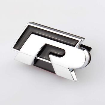 3D voiture autocollant avant gril Logo Badge autocollant Chrome emblème R pour VW Golf Jetta Passat Touareg Tiguan