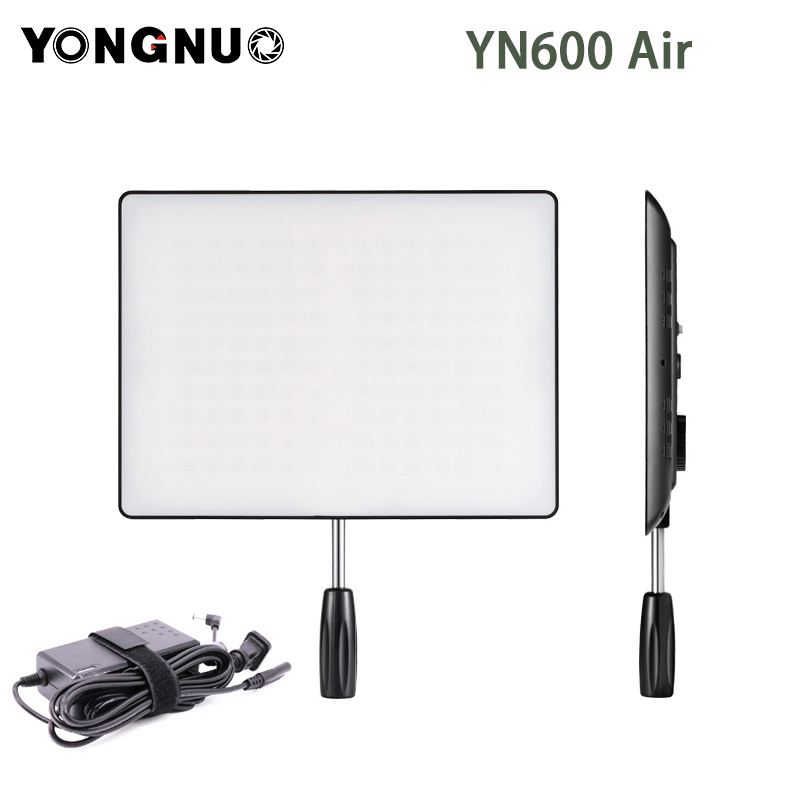 YONGNUO <font><b>YN600</b></font> <font><b>Air</b></font> Camera LED Video Light with Power Adapter LED Studio Lighting 3200K-5500K YN600air for Canon Nikon DSLR image