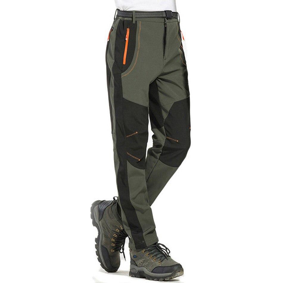 Winter Men Women Cycling Pants Softshell Thermal Waterproof Sports Trousers Windproof Fleece Outdoor Bike Bicycle Pants S-5XL