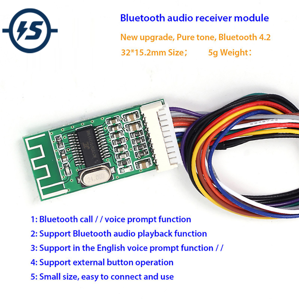 KCX_BT002 Bluetooth Audio Receiver Board Module Lossless 4.2 Wireless Audio IC Board MP3 Decode MP3 Module