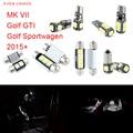 9pcs LED Canbus Interior Lights Kit Package For Volkswagen VW MK VII Golf GTI Golf Sportwagen (2015+)