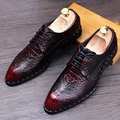 Mens Dress Wedding Shoes Genuine Leather New Spring Fashion Men's Casual Oxford Shoes Leather Derby Flats Shoe Lace-up Plus Size