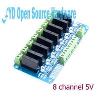 250V 2A 8 Channel OMRON SSR G3MB 202P Solid State Relay Module With Fuse For Arduino