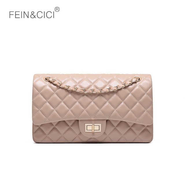 Luxury brand chains double flap bag 100% genuine leather sheepskin women classic  shoulder bag handbag 3750a4adec5a2