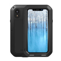Powerful Armor Case For iPhone Xs Max XR Premium Shockproof Aluminum Cases Cover for iPhone X XS 10 Rugged free Tempered Glass