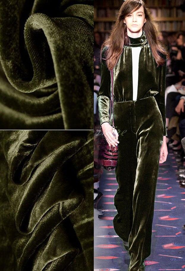 France libre cire coton tissu de haute qualité velours soie tissu militaire vert robe rideaux tissu au mètre en gros/au détail