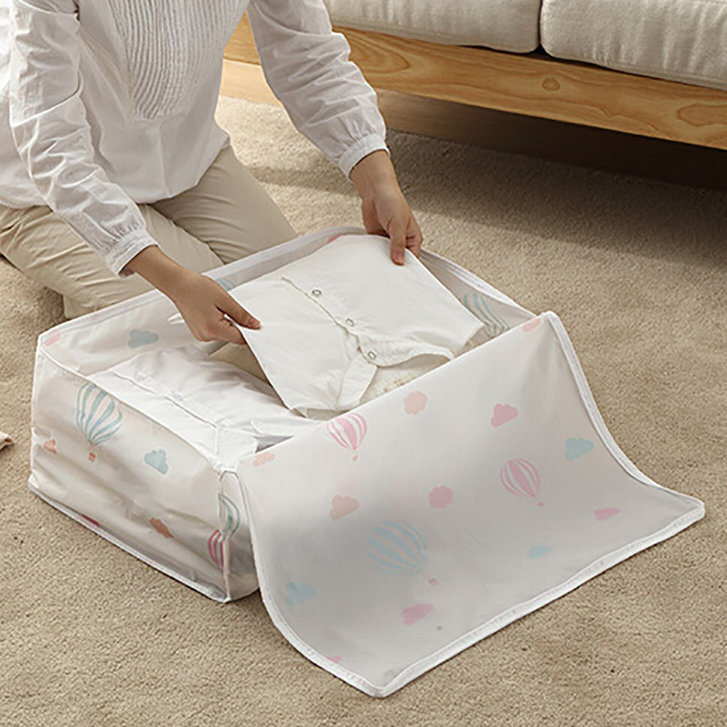Organizer Bag Blanket Storage-Bags Pillow Quilt Luggage Folding for Breathable title=