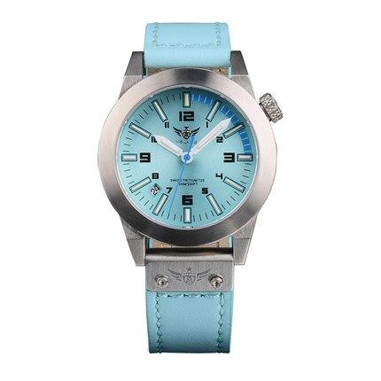 где купить YELANG V1010 H3 self luminous super bright lady leather strap anti glare sapphire mirror waterproof military diving quartz watch по лучшей цене