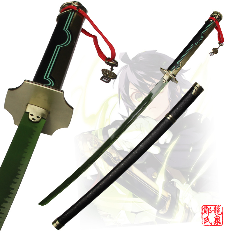 41 Katana Seraph of the End Owari no Serafu Yuichiro Hyakuya Green Sword Black Demon Asuramaru