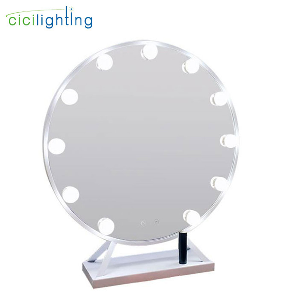D40cm D50cm зеркало светодиодный свет тщеславия сенсорный выключатель затемнения Comestic светодиодный зеркало для макияжа с подсветкой для туалет