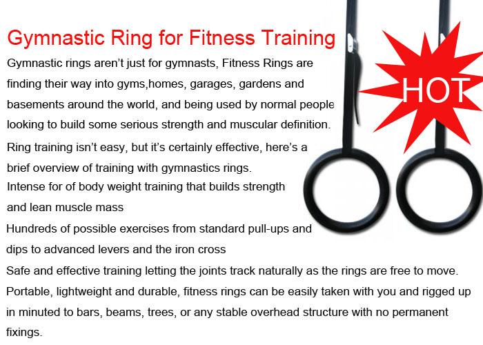 завод оптовая продажа цена за высокое качество абс-пластик гимнастические кольца и ремень