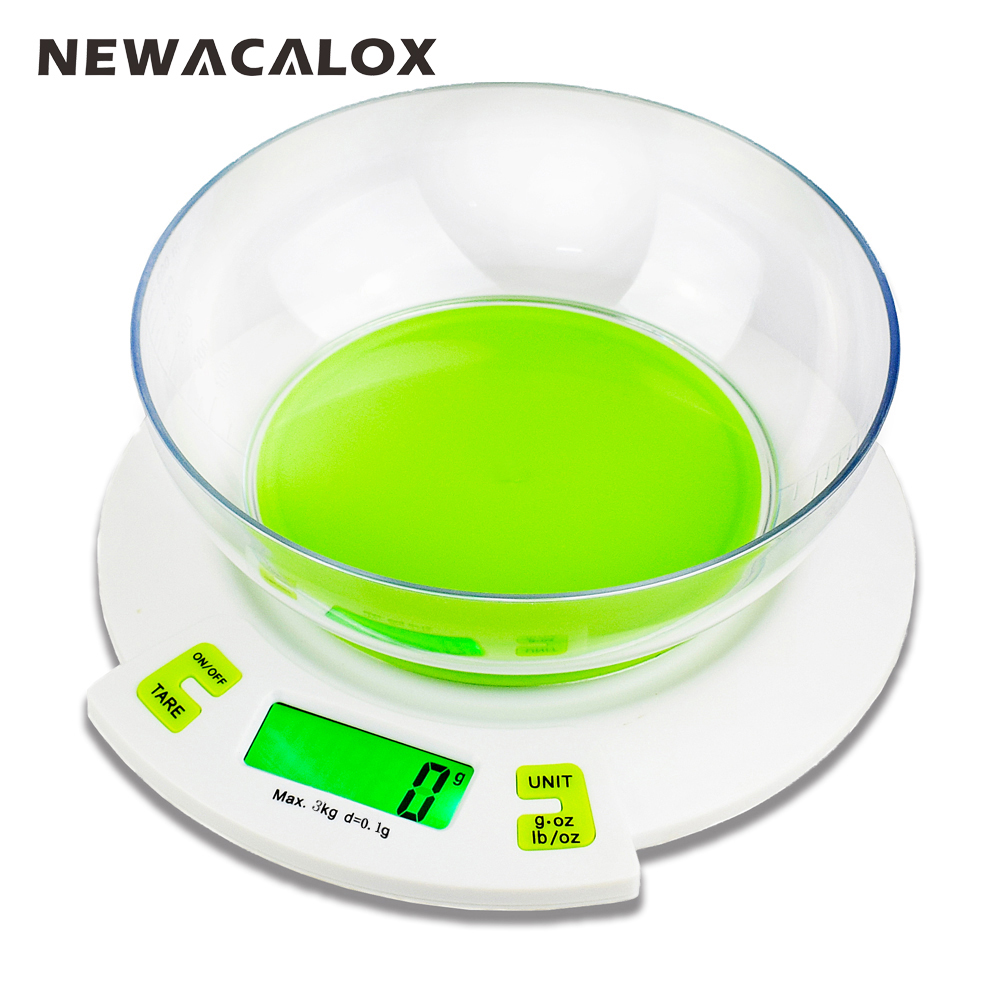 newacalox 3kg x digital scales for food die postal balance of kitchen scale cooking tools. Black Bedroom Furniture Sets. Home Design Ideas