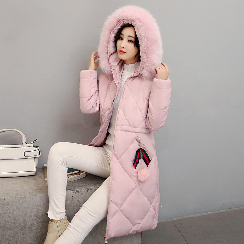 Autumn Winter Women Jacket Long   Parka   2019 New Women Coat Luxury Fur Collar Wadded Jackets Fashion Cotton-Padded Coat Plus Size