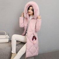 Autumn Winter Women Jacket Long Parka 2019 New Women Coat Luxury Fur Collar Wadded Jackets Fashion Cotton Padded Coat Plus Size