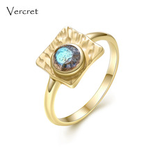 ФОТО vercret vintage labradorite ring handmade 925 sterling silver with 18k gold fine jewelry for women gifts sp