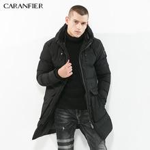 CARANFIER Winter Men Parka Jacket Long Coat Male Thick Cotton-Padded Jacket High Quality Parka Coat Male Fashion Casual Coats