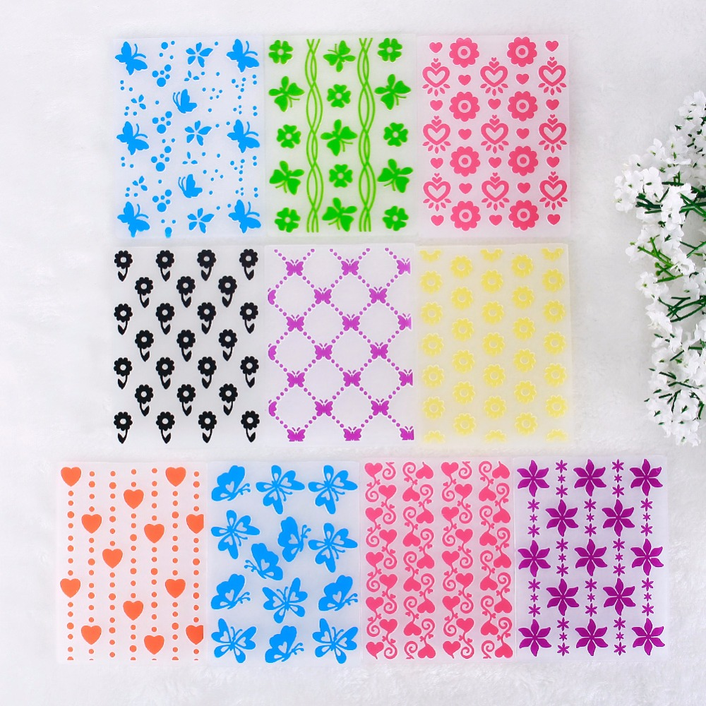 How to make scrapbook paper designs - Colorful Flower Pattern Plastic Embossing Folders For Diy Scrapbooking Paper Craft Card Making Decoration Supplies