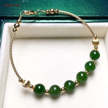 Certified Natural S925 Inlaid Hetian Jade Jasper Bangle Lucky Bead Bracelets High Quality Gifts For Ourself Mother