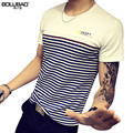 2017 New Arrival Brand Clothing Summer Men T-Shirt Fashion Striped Short Sleeve Men T Shirt Casual Slim Fit Men Shirt Plus Size