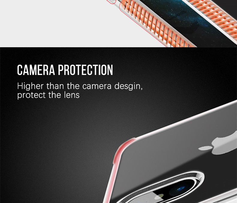 Military grade Anti-knock Case For iPhone X iPhone 7 case soft clear Transparent 2 in 1 TPU+TPE Cover for iPhone 6 6s 7 8 plus (8)