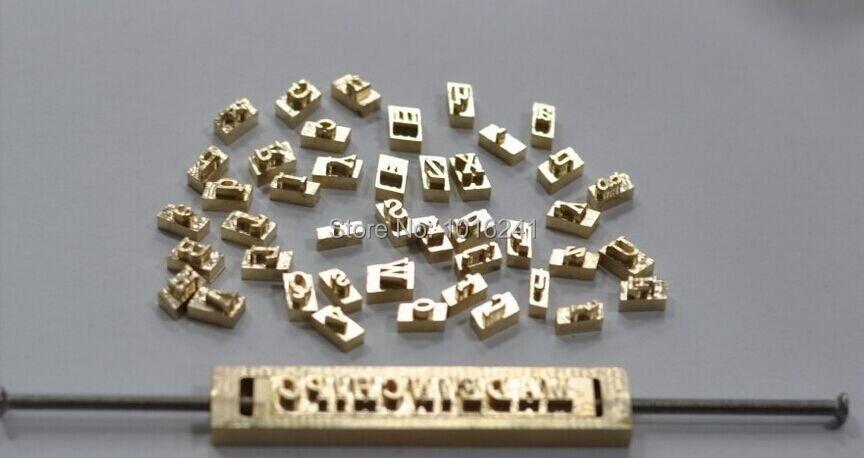1 cm de haut en laiton moule estampage à chaud A à Z 26 Alphabets cuivre moule lettres moule + support à pince.