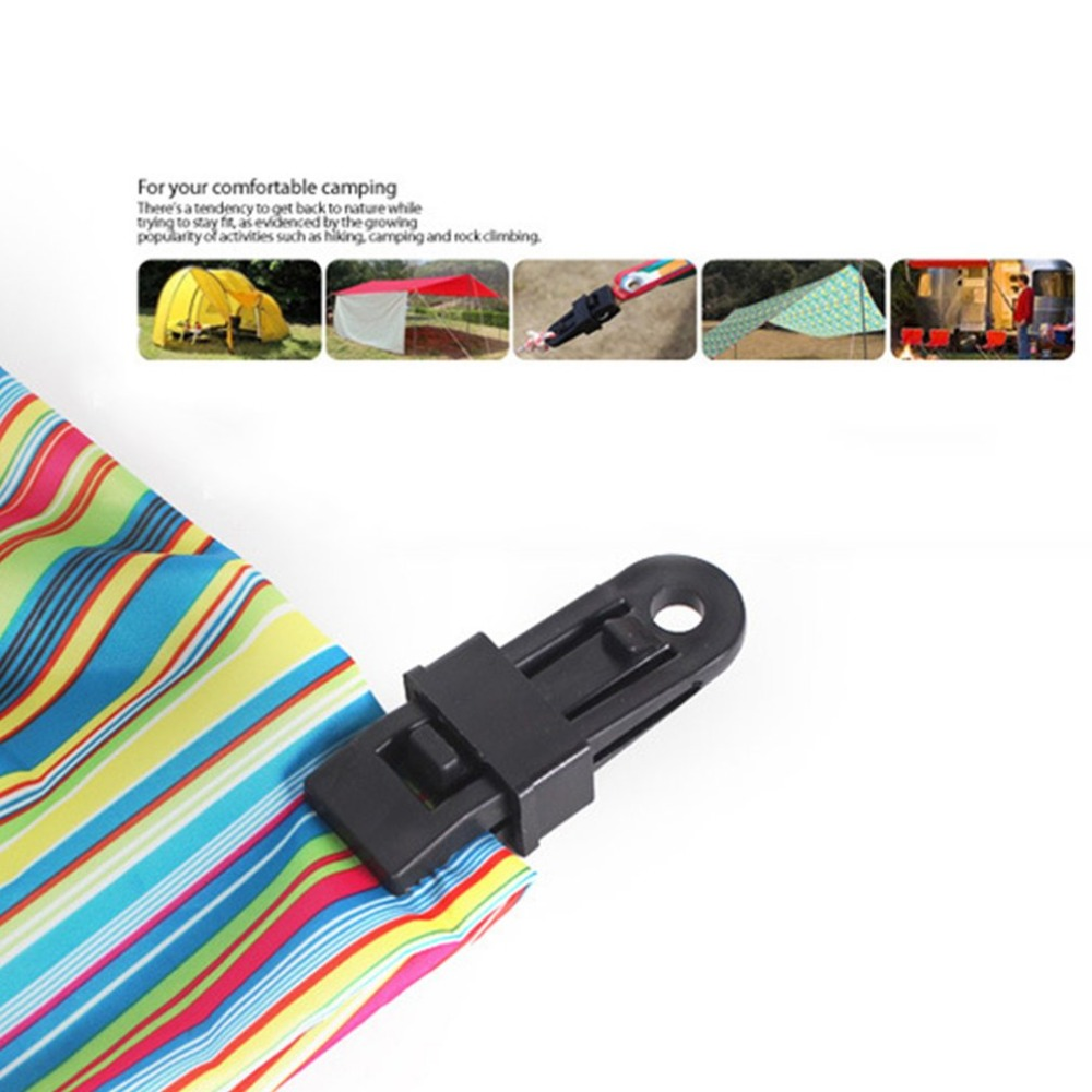 Tents Wind Rope Clamp Awnings Outdoor Camping Plastic Clip Tents Accessories New