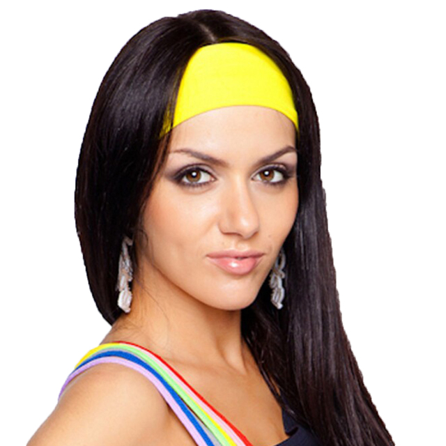 Fashion Elastic Women Headband Dance Biker Wide Headbands Stretch Ribbon  Head Band Ladies Hair Accessories d861168985a