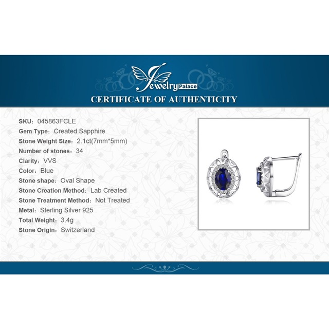 Unique Sapphire Clip On Earrings