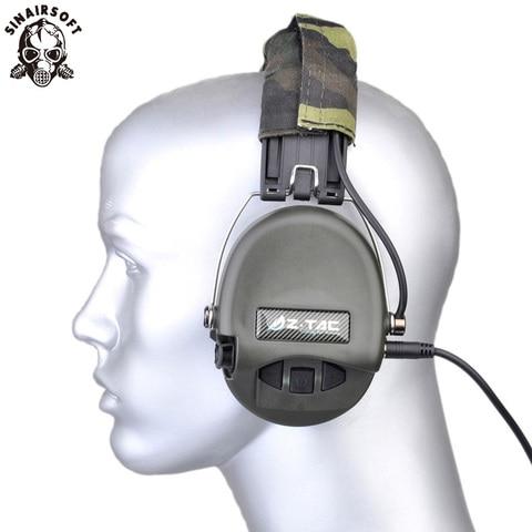 z tatico sordin tatico headsets ver couro bandana estilo se livrar 3 5mm fone de